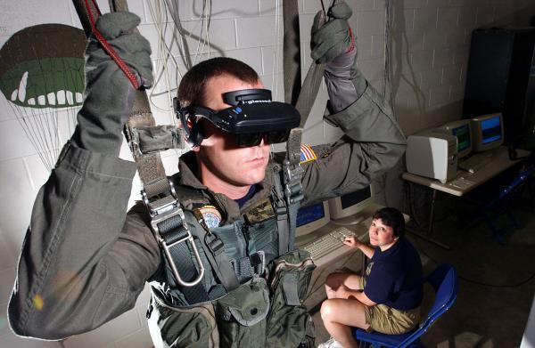 VR parachute trainer