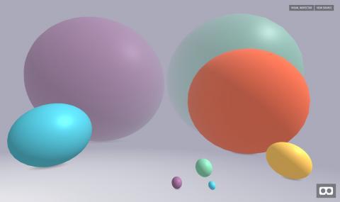 A-Frame spheres & fog
