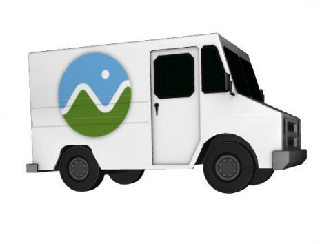 Cesium Milk Truck as Binary glTF